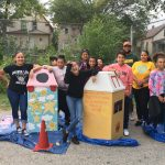 Youth create 'beautiful garbage' receptacles in Clarke Square