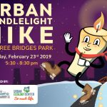Urban Candlelight Hike in Three Bridges Park returns on Saturday, February 23