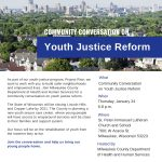 Conversation on youth justice reform — Jan. 24