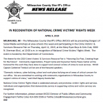 In recognition of national crime victims' rights week from Milwaukee County Sheriff's Office