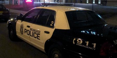 Close up of police car