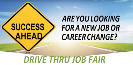 Drive thru job fair flyer image