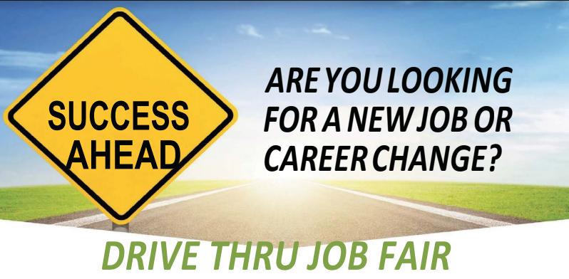 Drive thru job fair flyer image