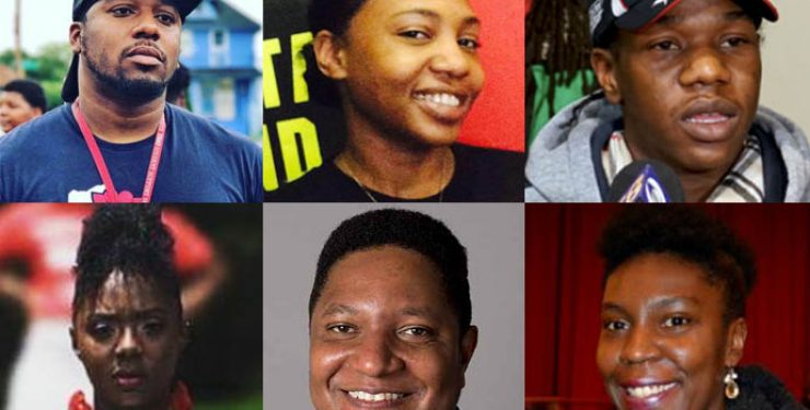 Clockwise from top left: Vaun Mays, Gab Taylor, Sedan Smith, Camille Mays, Jarrett English, Markasa Tucker